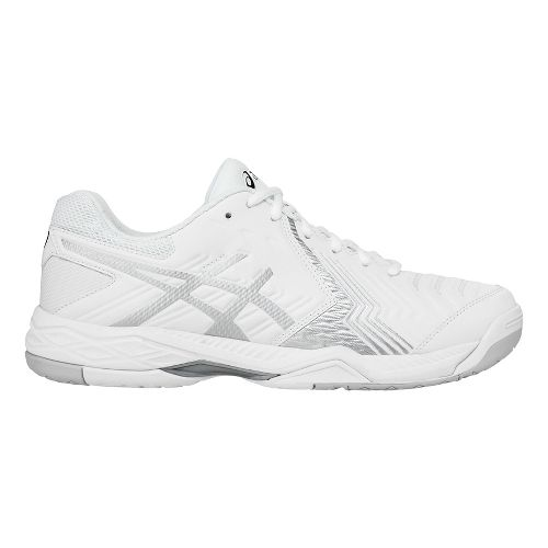Mens ASICS Gel-Game 6 Court Shoe - White/Silver 12.5
