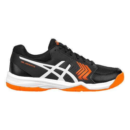 Mens ASICS Gel-Dedicate 5 Court Shoe - Black/White 11.5