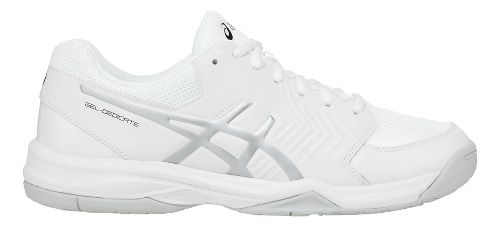 Mens ASICS Gel-Dedicate 5 Court Shoe - White/Silver 12