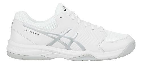 Mens ASICS Gel-Dedicate 5 Court Shoe - White/Silver 7