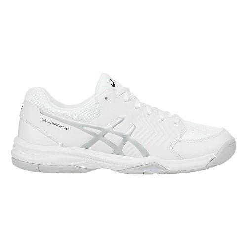 Mens ASICS Gel-Dedicate 5 Court Shoe - White/Silver 10.5
