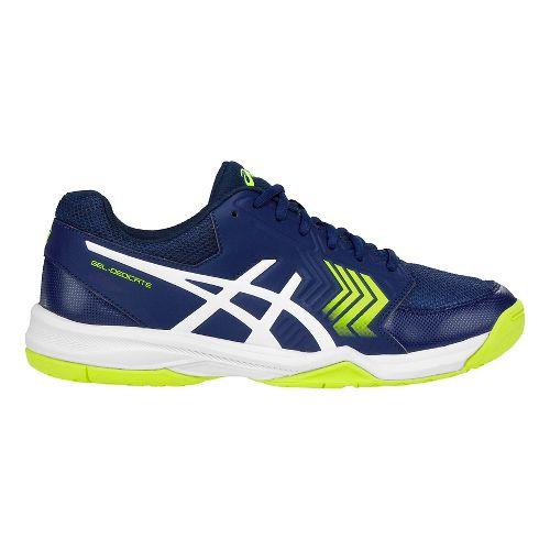 Mens ASICS Gel-Dedicate 5 Court Shoe - Blue/White 14