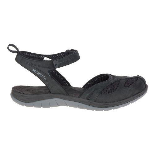 Womens Merrell Siren Wrap Sandals Shoe - Black 5