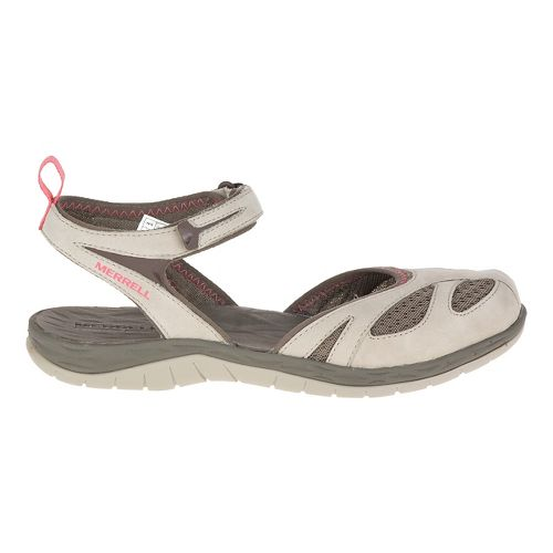 Womens Merrell Siren Wrap Sandals Shoe - Aluminum 5