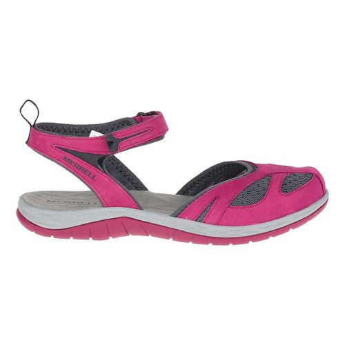 Womens Merrell Siren Wrap Sandals Shoe - Beet Red 10