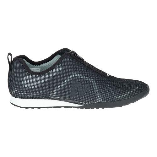 Womens Merrell Civet Zip Casual Shoe - Black 8.5