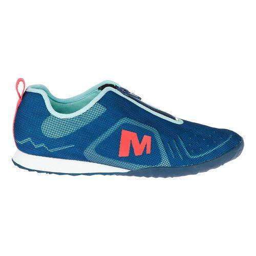 Womens Merrell Civet Zip Casual Shoe - Mykonos Blue 10
