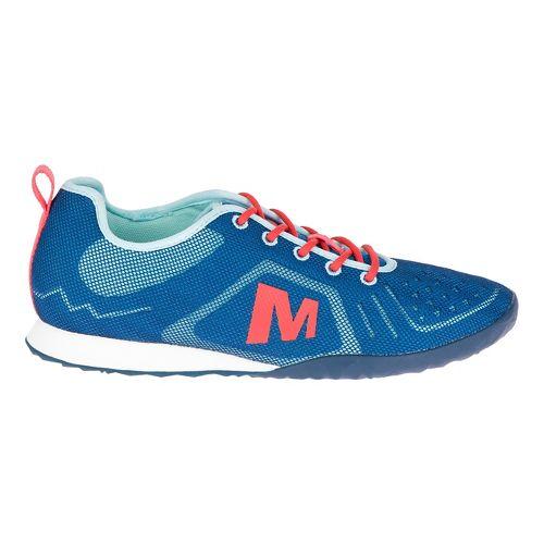 Womens Merrell Civet Lace Casual Shoe - Mykonos Blue 6.5