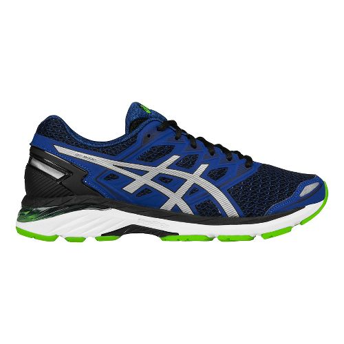 Mens ASICS GT-3000 5 Running Shoe - Black/Silver 11.5