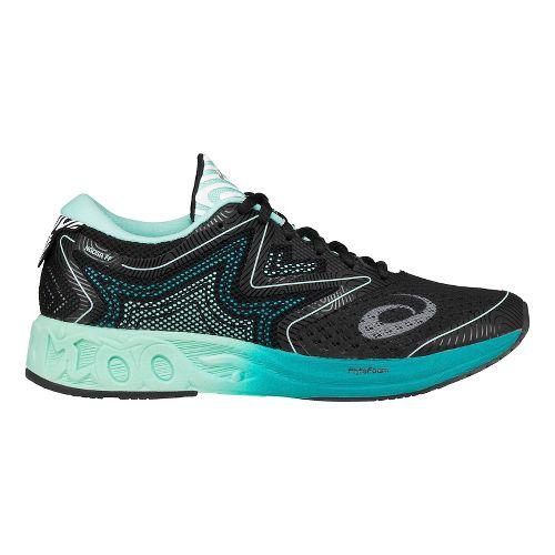 Womens ASICS NOOSA FF Running Shoe - Black/Green 10.5