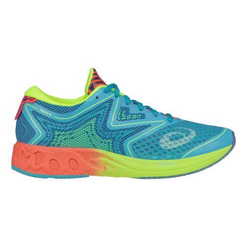 Womens ASICS Noosa FF Running Shoe - Aqua/Coral 9.5
