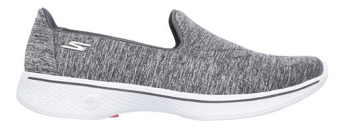 Womens Skechers GO Walk 4 Achiever Casual Shoe - Grey/White 13