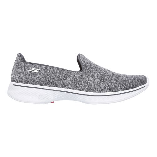 Womens Skechers GO Walk 4 Achiever Casual Shoe - Grey/White 5.5