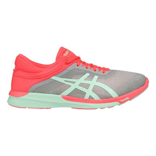 Womens ASICS fuzeX Rush Running Shoe - Grey/Coral 10.5