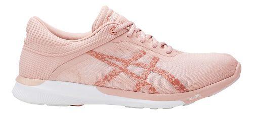 Womens ASICS fuzeX Rush Running Shoe - White/Light Pink 6.5