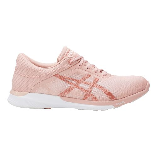 Womens ASICS fuzeX Rush Running Shoe - White/Light Pink 7