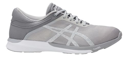 Womens ASICS fuzeX Rush Running Shoe - White/Mid Grey 10