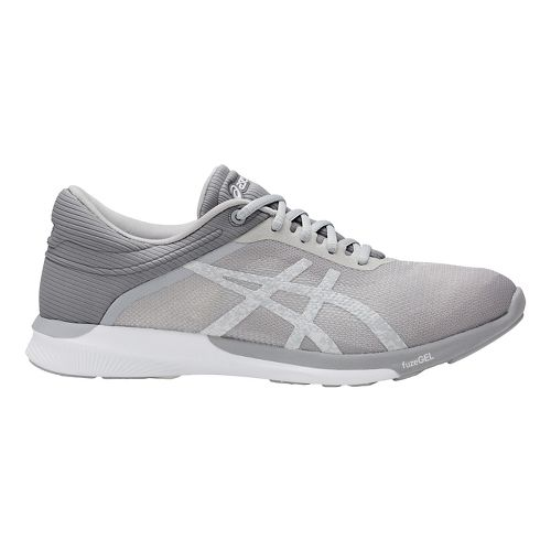Womens ASICS fuzeX Rush Running Shoe - White/Mid Grey 12