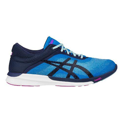 Womens ASICS fuzeX Rush Running Shoe - Blue/White 10