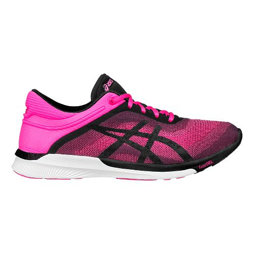 Womens ASICS fuzeX Rush Running Shoe - Pink/Black 9.5