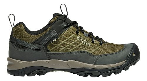Mens Keen Saltzman WP Hiking Shoe - Dark Olive 9.5