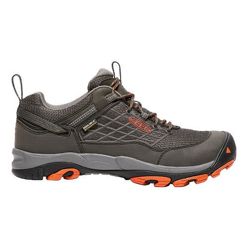 Mens Keen Saltzman WP Hiking Shoe - Raven/Koi 8.5
