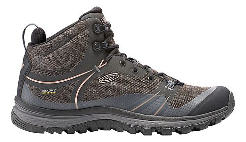 Womens Keen Terradora Mid WP Hiking Shoe - Raven/Rose 9