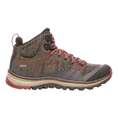 Womens Keen Terradora Mid WP Hiking Shoe - Canteen/Marsala 6.5
