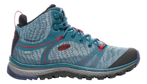 Womens Keen Terradora Mid WP Hiking Shoe - Blue/Red 5.5