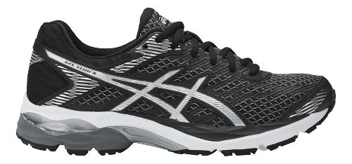 Womens ASICS GEL-Flux 4 Running Shoe - Black/Silver 10.5