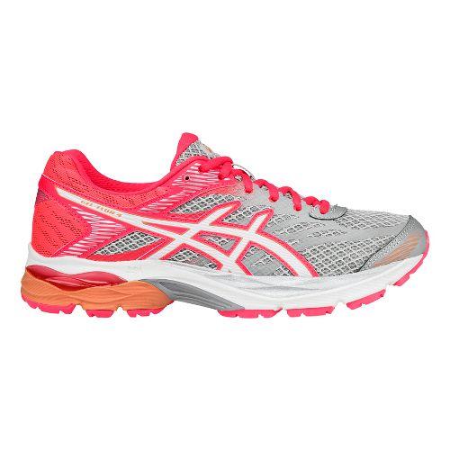 Womens ASICS GEL-Flux 4 Running Shoe - Grey/White 12.5