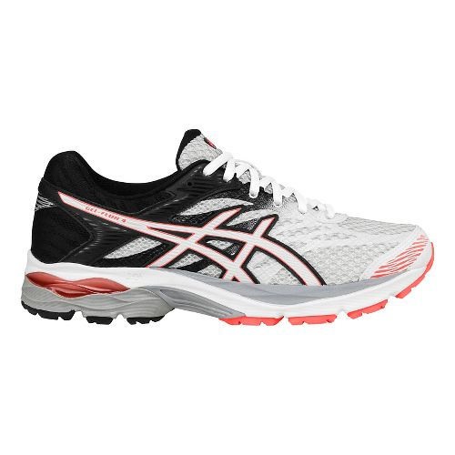 Womens ASICS GEL-Flux 4 Running Shoe - White/Coral 11
