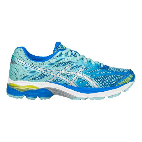 Womens ASICS GEL-Flux 4 Running Shoe - Blue/Silver 7.5