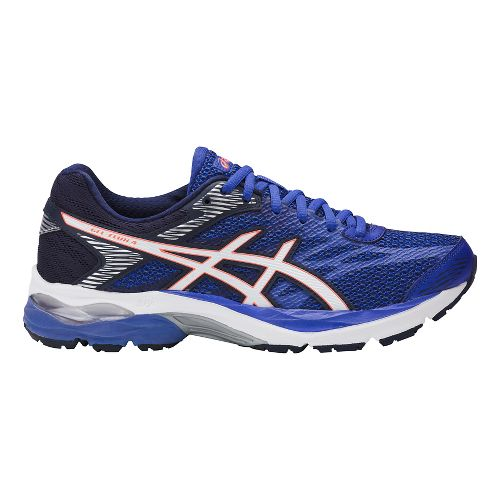 Womens ASICS GEL-Flux 4 Running Shoe - Black/Silver 11.5