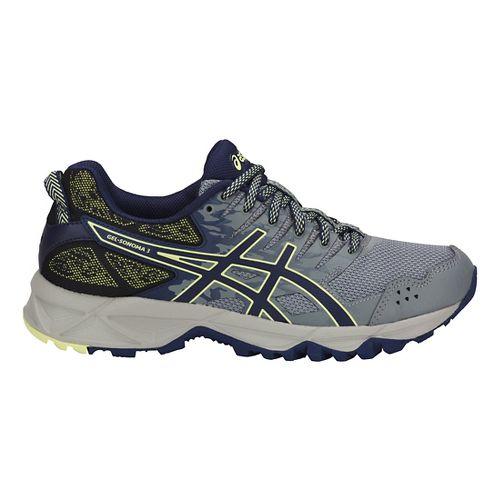 Womens ASICS GEL-Sonoma 3 Trail Running Shoe - Grey/Blue/Lime 9.5