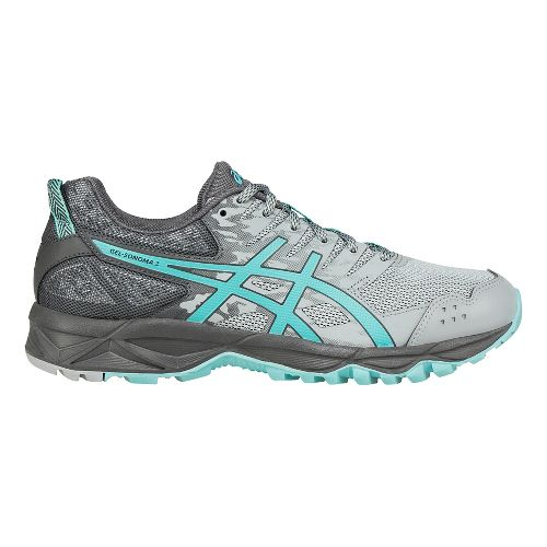 Womens ASICS GEL-Sonoma 3 Trail Running Shoe - Grey/Aqua 7.5