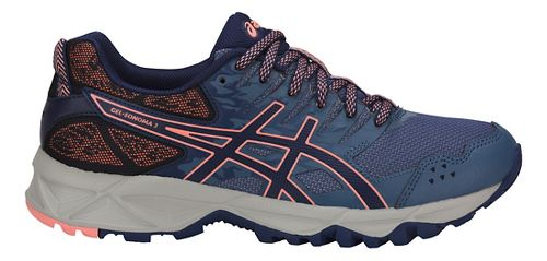 Womens ASICS GEL-Sonoma 3 Trail Running Shoe - Blue/Indigo/Pink 9.5