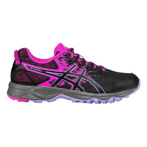 Womens ASICS GEL-Sonoma 3 Trail Running Shoe - Pink/Black 11.5