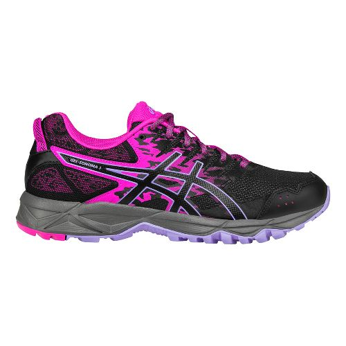 Womens ASICS GEL-Sonoma 3 Trail Running Shoe - Pink/Black 6.5