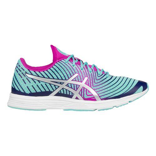 Womens ASICS GEL-Hyper Tri 3 Running Shoe - Aqua/Silver 9.5