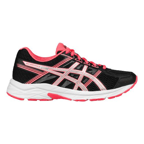 Womens ASICS GEL-Contend 4 Running Shoe - Black/Coral 5.5