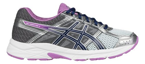 Womens ASICS GEL-Contend 4 Running Shoe - Silver/Carbon 10.5