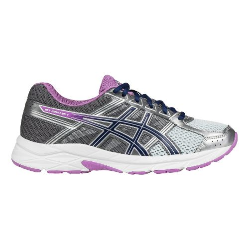 Womens ASICS GEL-Contend 4 Running Shoe - Silver/Carbon 11.5