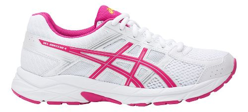 Womens ASICS GEL-Contend 4 Running Shoe - White/Pink 10.5