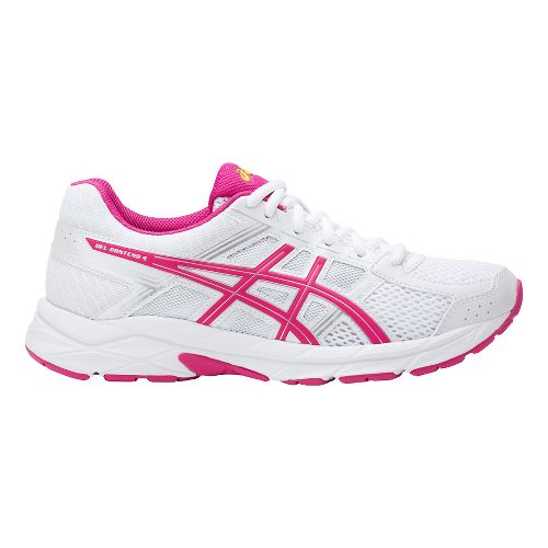 Womens ASICS GEL-Contend 4 Running Shoe - White/Pink 9.5