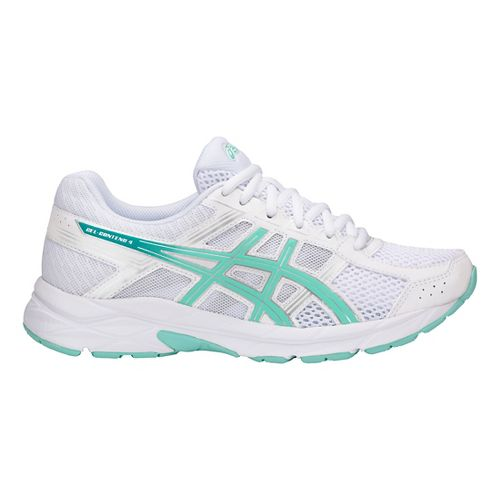 Womens ASICS GEL-Contend 4 Running Shoe - White/Blue/Silver 10.5
