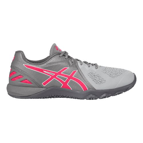 Womens ASICS Conviction X Cross Training Shoe - Aluminum/Pink 9.5