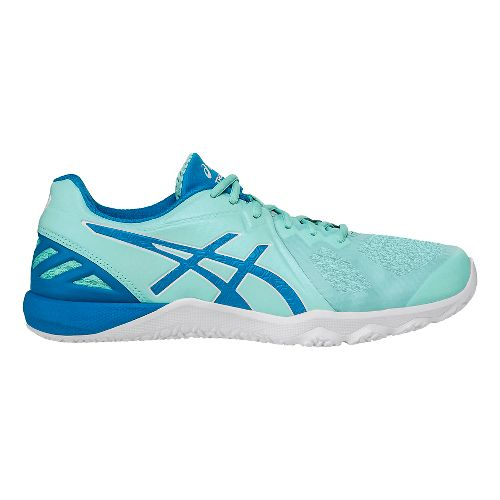 Womens ASICS Conviction X Cross Training Shoe - Aqua/White 10.5