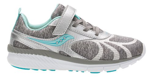 Saucony Velocity A/C Running Shoe - Silver/Turquoise 1Y