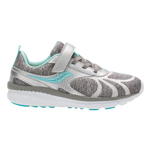 Saucony Velocity A/C Running Shoe - Silver/Turquoise 2Y